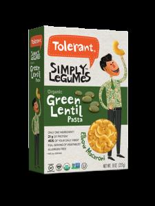 Simply Legumes Green Lentil Pasta Elbow 8 oz