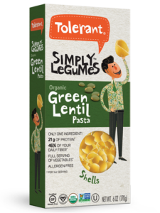 Simply Legumes Green Lentil Pasta Shells 6 oz