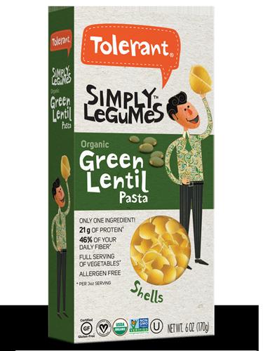 Simply Legumes Green Lentil Pasta Shells 6 oz