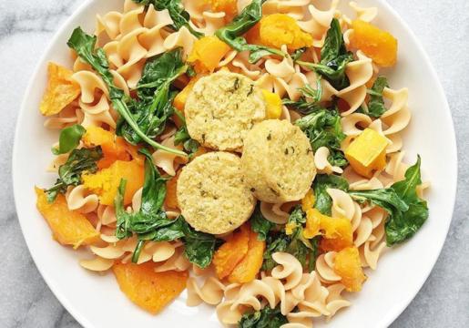 Butternut Squash & Spinach Lentil Pasta